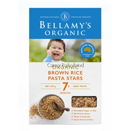 Bellamy's Organic Brown Rice Pasta Stars (200g)