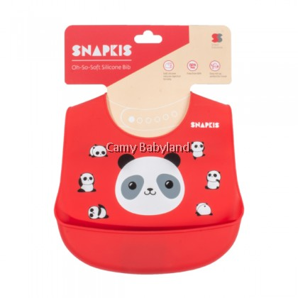 Snapkis Oh-So-Soft Silicone Bib (Panda)