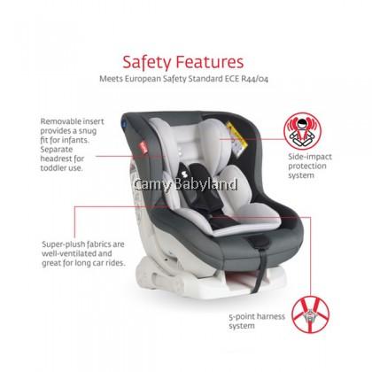 SNAPKIS - Transformers Car Seat 0-4years (Blue Melange/Grey)