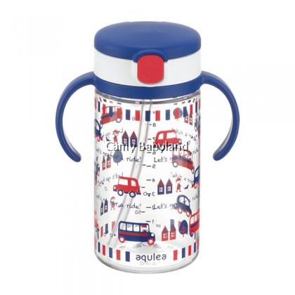 Richell AQ Clear Straw Mug 320ml - Navy Blue