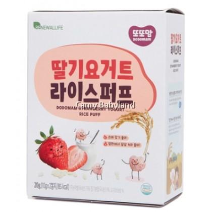 Renewallife DDDODDOMAM Rice Puff (10g x 2pack) - Strawberry Yogurt