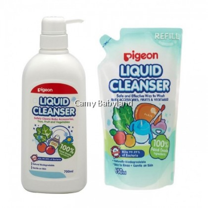 Pigeon Liquid Cleanser 700ml Pump + 650ml Refill