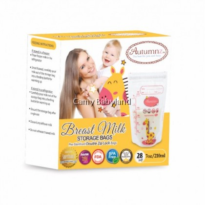 Autumnz Breast Milk Storage Bags 7oz/210ml (28pcs)