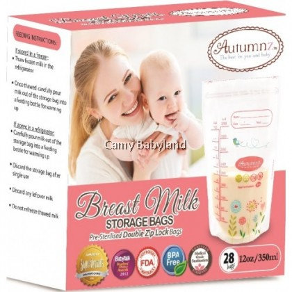 Autumnz Breast Milk Storage Bags 12oz/350ml (28pcs)