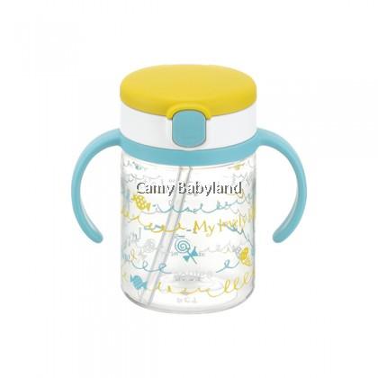 Richell AQ Clear Straw Mug 200ml (Yellow)