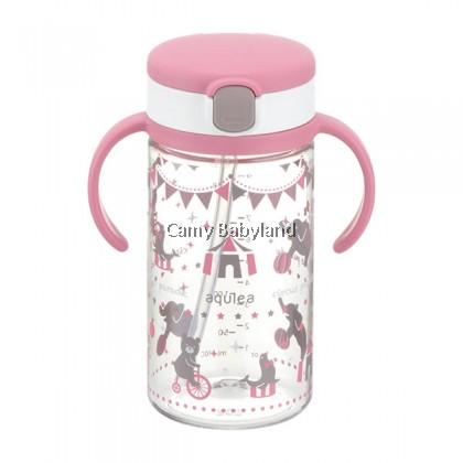Richell AQ Clear Straw Mug 320ml - Pink