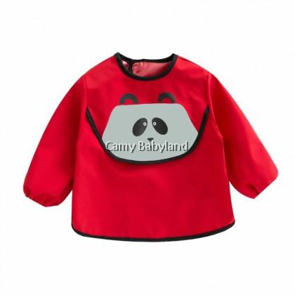 Earth Bebe - Waterproof Bib With Sleeve (Red Panda)