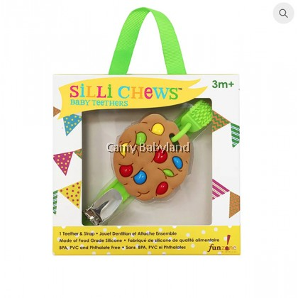 Sillichews - Mini Silicone Teethers With Clip & Strap (Assorted Designs)