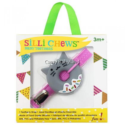 Sillichews - Mini Silicone Teethers With Clip & Strap (Assorted Designs)