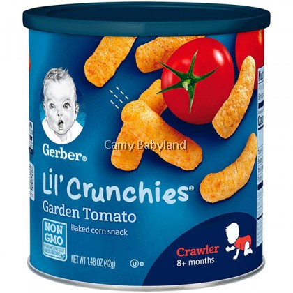 Gerber Lil' Crunchies - Baked Corn Snack (Garden Tomato)
