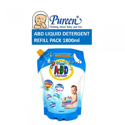 Pureen - A-B-D Liquid Detergent With Softener Refill Pack (1.8L)
