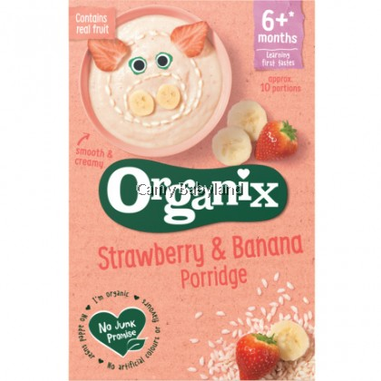 Organix - Strawberry & Banana Porridge 6+ months (120g)