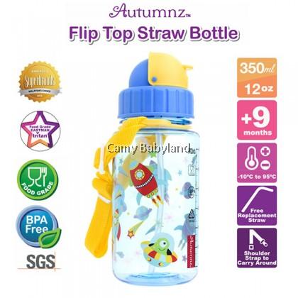 Autumnz - Flip Top Straw Bottle (12oz/350ml) - Outer Space