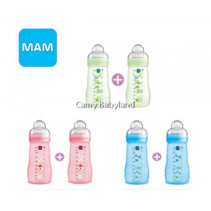 MAM Easy Active Baby Bottle - 270ml (Twin Pack)