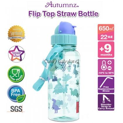 Autumnz - Flip Top Straw Bottle (22oz/650ml) - Jurassic Forest