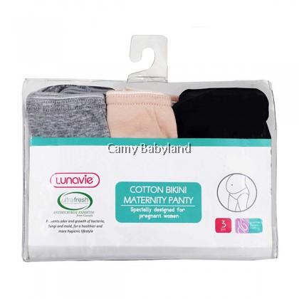 Lunavie - Cotton Bikini Maternity Panty 3pcs/pack (Assorted Sizes)
