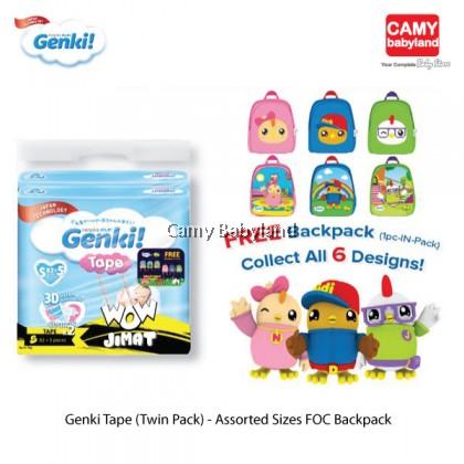 Genki Tape - Mega Twin Pack (Assorted Sizes) FOC Didi & Friends Backpack (In-pack)
