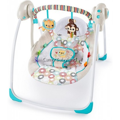 Brightstarts Portable Swing - Petite Jungle