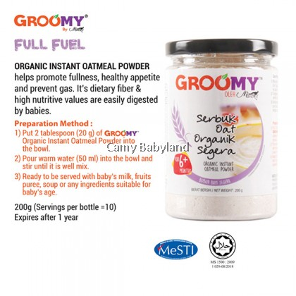 Groomy - Organic Instant Oatmeal Powder For 6+ Months (200g)