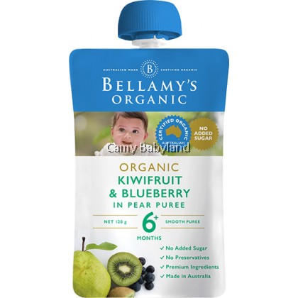 Bellamy's Organic - Kiwifruit & Blueberry Puree (120g)