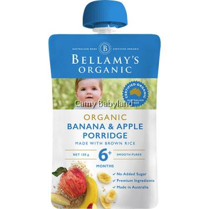 Bellamy's Organic - Banana & Apple Porridge (120g)