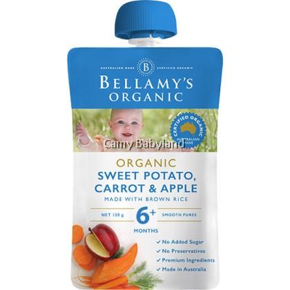 Bellamy's Organic - Sweet Potato, Carrot & Apple (120g)