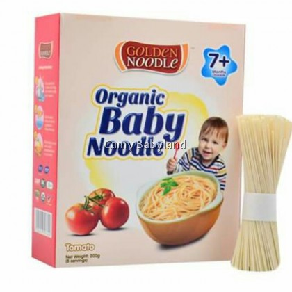 Golden Noodle - Organic Baby Noodle 200g (Tomato) - Halal