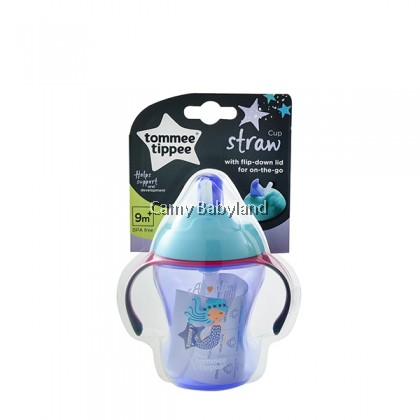Tommee Tippee - Easy Drink Straw Cup (230ml) 9M+ (Purple) - Soft Straw Cup For Babies & Toddler, BPA Free
