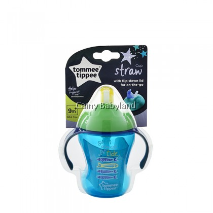 Tommee Tippee - Easy Drink Straw Cup (230ml) 9M+ (Green) - Soft Straw Cup For Babies & Toddler, BPA Free