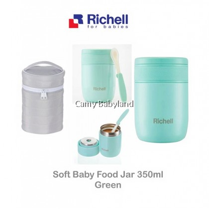 Richell - Baby Stainless Steel Food Jar 350ml (Green) - 304 Stainless Steel Vacuum Insulated & BPA Free