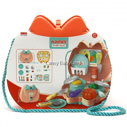 Funny - Outdoor Picnic Bags! Girl Toys Handbag - 21pcs accessories included
