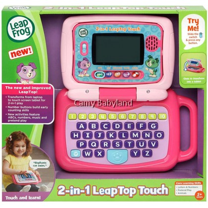 LEAPFROG - 2in1 Leaptop Touch Toy (Pink) - 2+ years