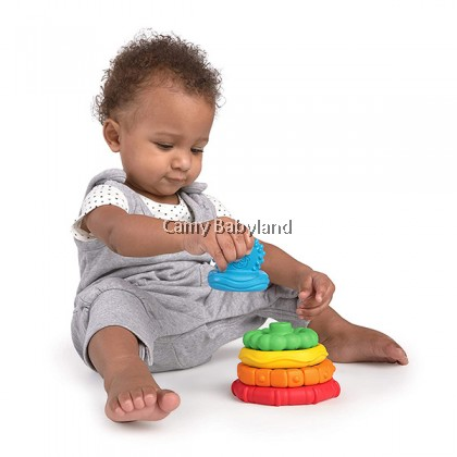 Baby Einstein - Stack & Teethe (Multi-Textured Easy-to-Grasp 5 Piece Teether Toy Set, Ages 0m+)