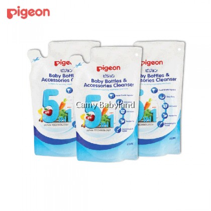 Pigeon - Baby Bottle & Accessories Cleanser Refill 450ml x 3 packs (Value Pack)