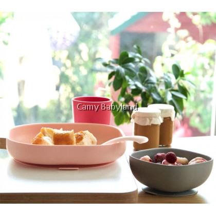 Beaba - Silicone 4pcs Meal Set With Suction Pad (4m+) - BLUSH