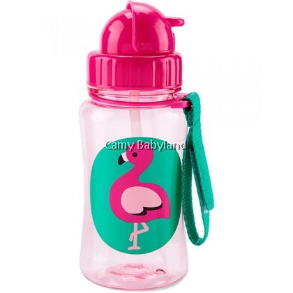 Skip Hop - Zoo Straw Bottle With Flip Top Lid (Franny Flamingo) - 350ml/12m+/BPA Free