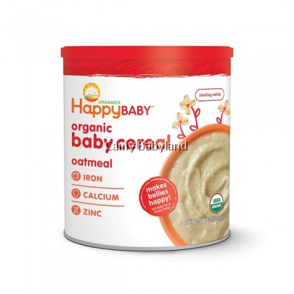 Happy Baby - Organic Baby Cereal OATMEAL (198g) - Suitable for babies from 6mths onwards