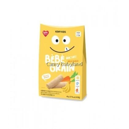 Kemy Kids - Bebe Grain 40g (5g x 8ea) Banana & Carrot - Finger Snack Food For Baby & Toddler Suitable From 9mths+