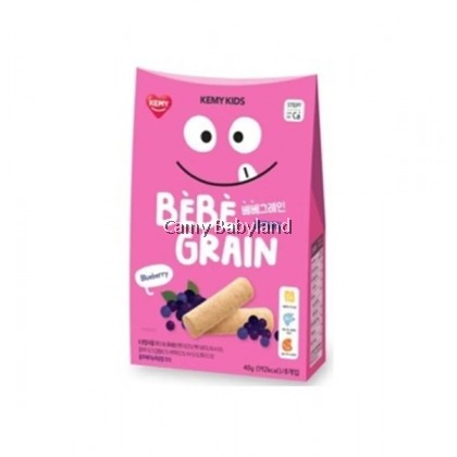 Kemy Kids - Bebe Grain 40g (5g x 8ea) Blueberry - Finger Snack Food For Baby & Toddler Suitable From 9mths+
