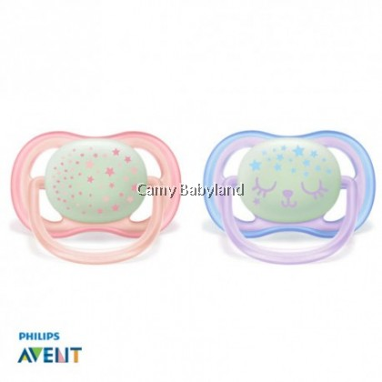 Philips Avent - Ultra Air Night Pacifier 0-6mths (Girl)
