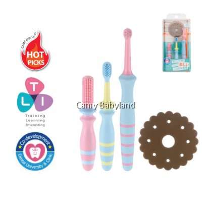 Richell - T.L.I Baby Toothbrush Set (From 6 Months Onwards)