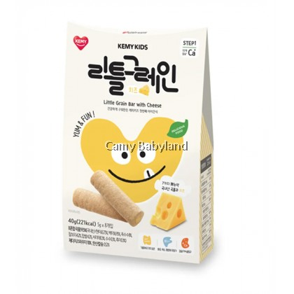 Kemy Kids - Little Grain Bar 40g (5g x 8ea) CHEESE - Finger Snack Food For Baby & Toddler Suitable From 9mths+