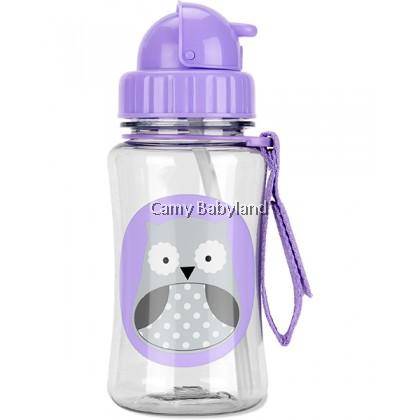 Skip Hop - Zoo Straw Bottle With Flip Top Lid (Winter Owl) - 350ml/12m+/BPA Free