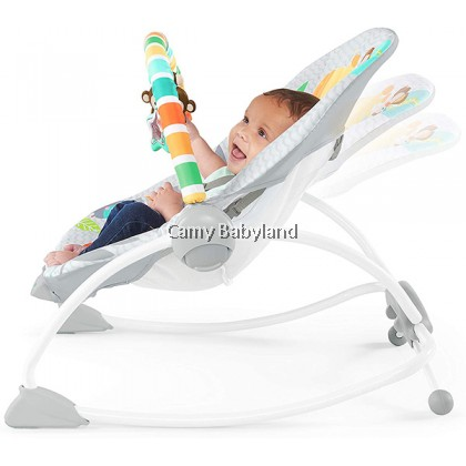 Bright Starts - Infant To Toddler Portable Rocker With Soothing Vibrations (Safari Blast)