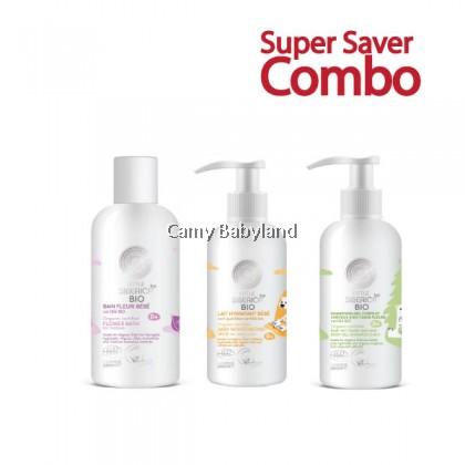 Little Siberica Bio - Flower Bath (250ml) + 2-IN-1 Hair Body Gel (250ml) + Mosturizing Baby Milk (250ml) COMBO DEAL