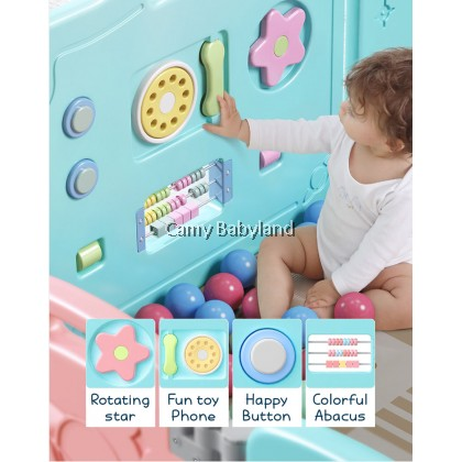 Coby Haus - Universe Foldable Baby Fence (8 Panels + 1 Safety Door + 1 Activity Board)