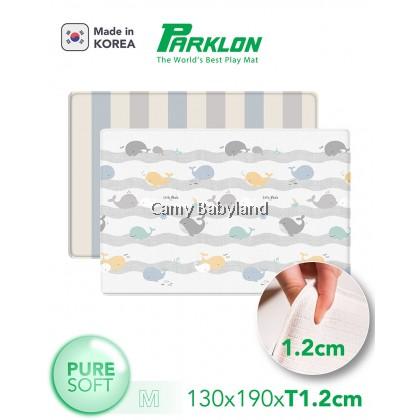 Parklon Pure Soft Mat (M) - 130 x 190 x 1.2cm (Happy Whale + 2-Tone Stripe)