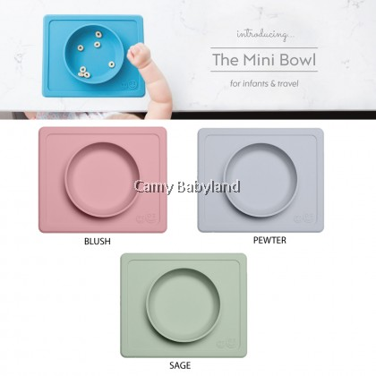 EZPZ - The Mini Bowl 8oz (Assorted Colours) - 100% Silicone Suction Bowl with Built-in Placemat for 12m+, BPA Free
