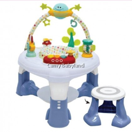 Bubbles Spin & Jump Multi Function Activity Center (Grey)