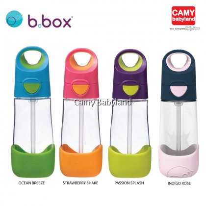B.Box - Tritan Drink Bottle 450ml (Assorted Colours/BPA Free/Angled Silicone Straw)